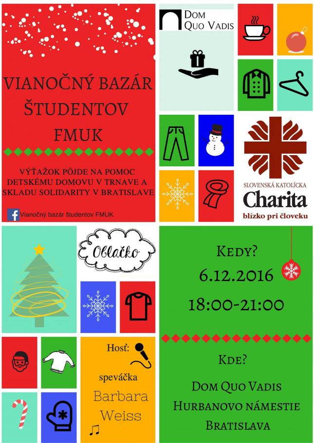 Pozvánka  Vianočný bazár študentov FMUK  066dae34284