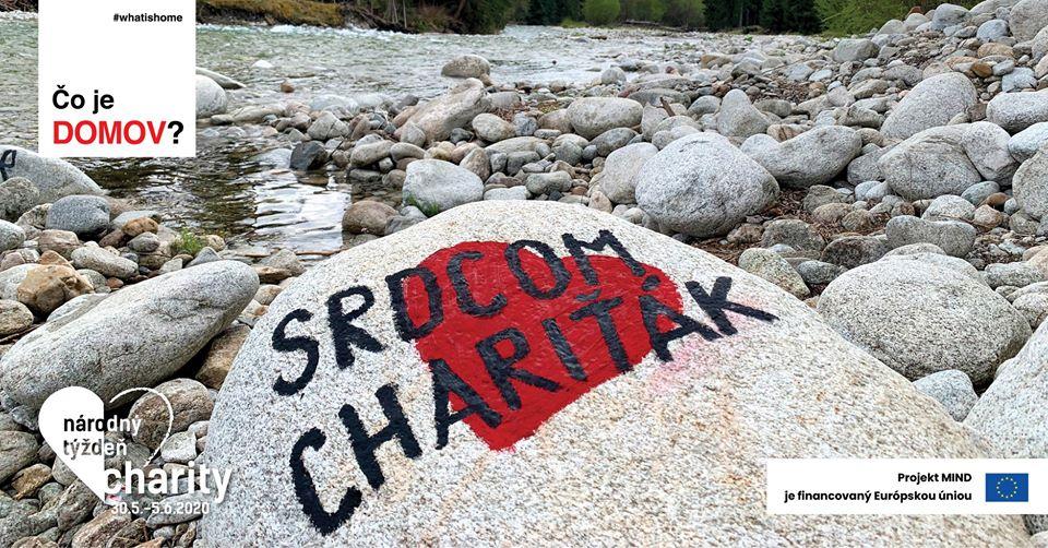"""nápis na kameni """"srdcom chariťák"""""""